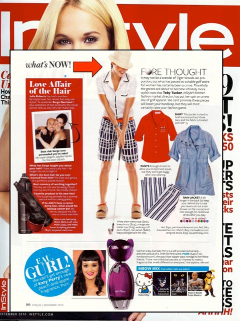 InStyle Magazine Features Toby Tucker Golf and Equipt For Play Women's Golf Shoes