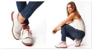 Comfortable & fashionable white suede women's oxford walking & golf shoes|EQUIPT FOR PLAY