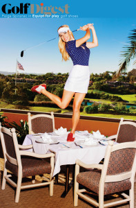 GOLF DIGEST features Equipt for play ladies golf shoes October 2015 issue|PAIGE SPIRANAC