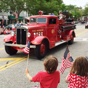 Memeorial Day parade in Sag Harbor, NY, home of Equipt for play