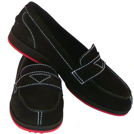 1-WEEKENDER-womens suede loafer-black-EQUIPT FOR PLAY